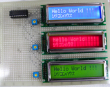 SC1602のLCD(液晶)3種