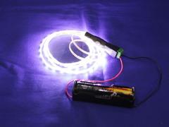 18650Li-ion電池1本で綺麗に光る