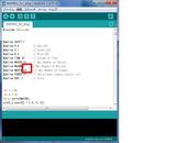 赤枠サーボ確認用特殊モーション変数確認スクショ