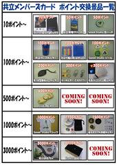 ポイントカード交換商一覧_A3
