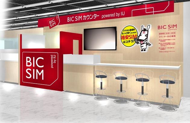 <新宿西口店>BIC SIMコーナーイメージパース