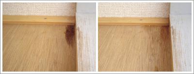 写真:台所側の天袋の汚れ