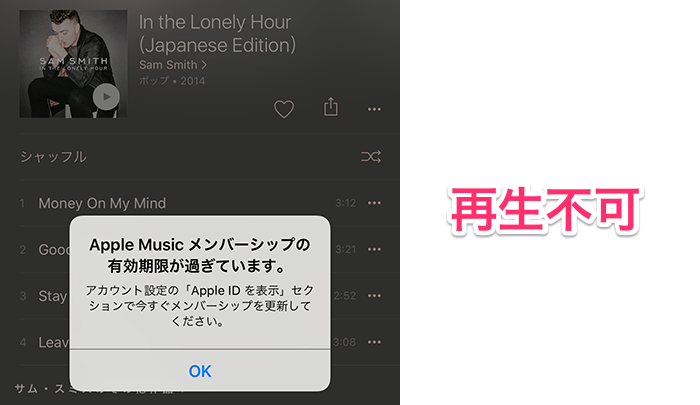AppleMusic終了後11