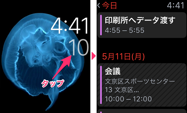 AppleWatchカレンダー01