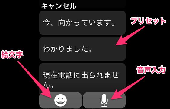 AppleWatchメッセージ01
