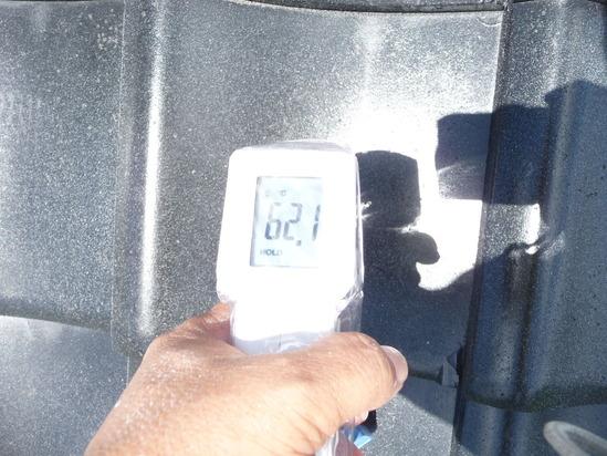 瓦 施工前温度