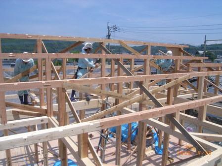 屋根の組み立て