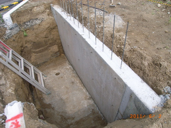 浄化槽擁壁