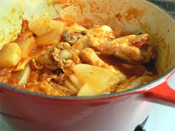 大根とチキンのトマト煮