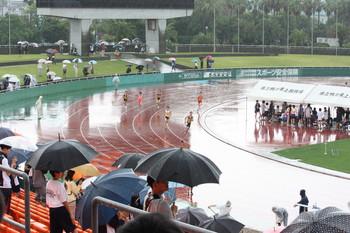 雨の中の大会