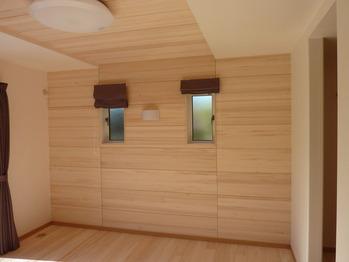 もみの木の寝室