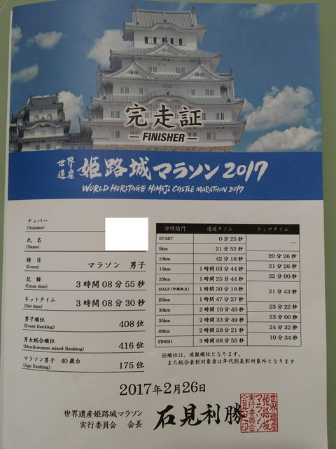 姫路城記録証 - コピー