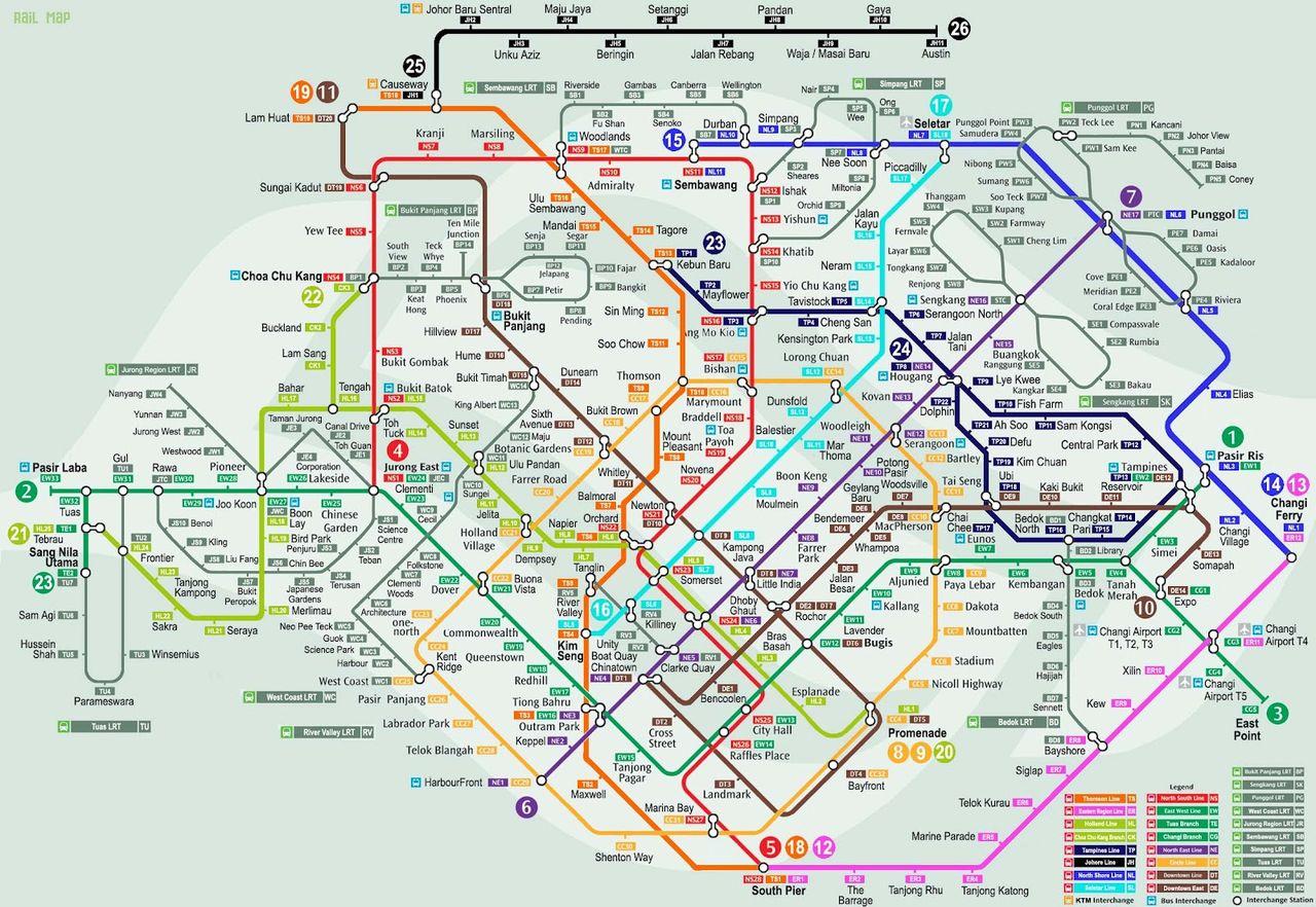 シンガポールねた! : MRT路線図...