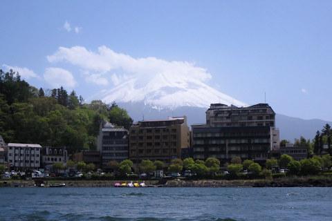 湖上からの富士