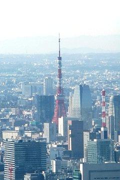 スカイツリーからの東京タワー