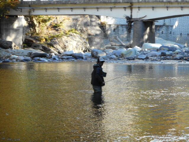 錦帯岩の釣り人