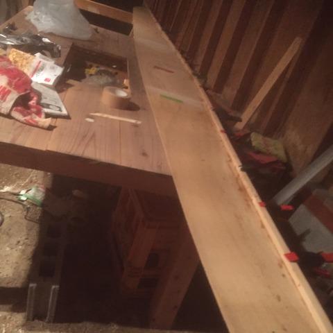 シアー材を取り付けたベニア板