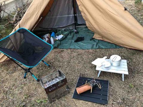 パンダTCとキャンプ道具