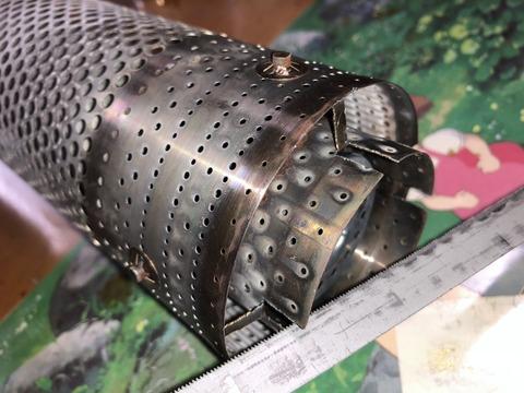 石油ストーブ燃焼筒の改造
