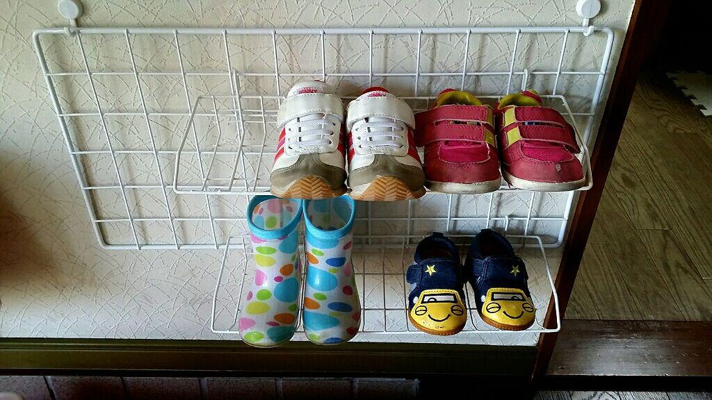 子ども二人分の靴収納が完成しました!