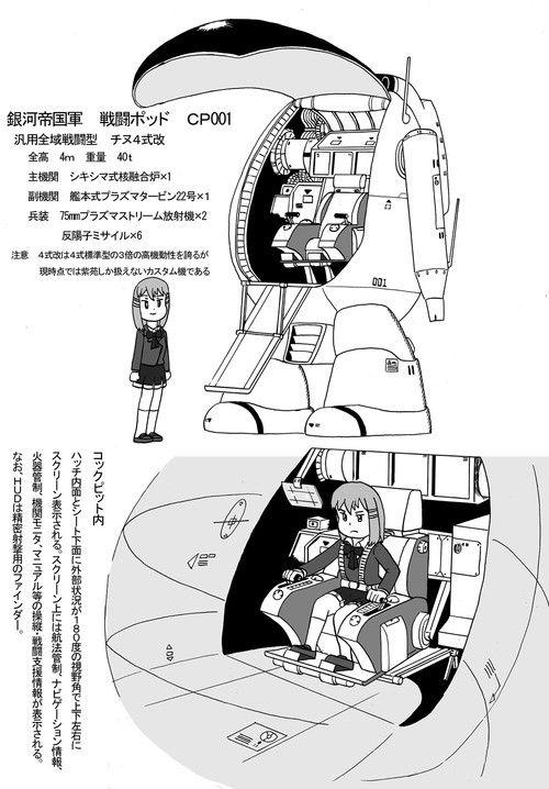 銀河帝国 戦闘ポッドCP001 紫苑の搭乗機
