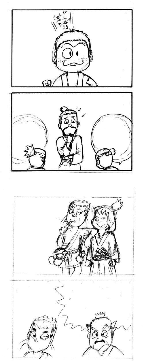 戦国4コマ漫画制作開始~♪