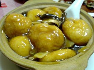 おふと椎茸と新鮮な竹の子@上海小吃