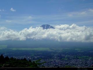 ふじみ茶屋から眺めた富士山