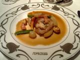 イベリコ豚とラングスティーヌの挟み焼き マデラ酒風味