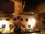 オープンキッチン@カウンター席