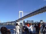 シンフォニー甲板から眺めるレインボーブリッジ