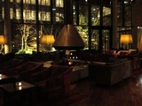 リビングルームの暖炉@ハイアットリージェンシー箱根リゾート&スパ