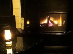 バー利休の暖炉@パヴィヨン・ミラドー