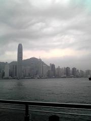 香港は曇り