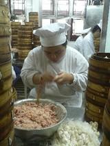 南翔饅頭店1階厨房@豫園