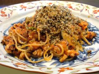 日本一美味しい佐島の地ダコのトマトソーススパゲティ