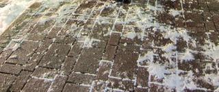 東名高速浜名湖SAに雪の名残り