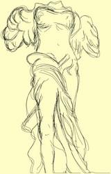 MVPenで描いたサモトラケのニケ像