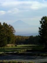 風林火山館から眺める富士