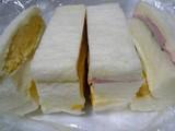 ハム、タマゴ、フルーツの「はまの屋サンドイッチ」
