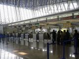 全日空チェックインカウンター上海浦東国際空港