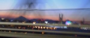 富士山のシルエットとMM21