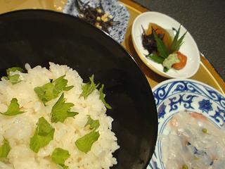 若菜鯛茶漬け@箱根瓔珞
