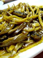 田ウナギの細切り炒め@上海小吃