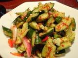 胡瓜と野菜の和え物