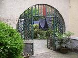 中国藍印花布館前庭への門