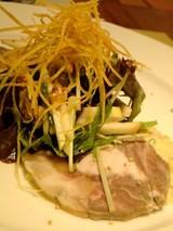 豚肉のテリーヌ、グリビッシュソース添え