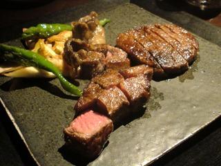 極上和牛ステーキ サーロインとフィレ