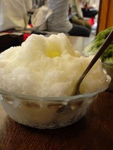 あずきミルク氷@滝の家