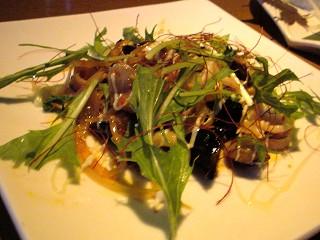 秋刀魚をサラダ風に@バンビーノ